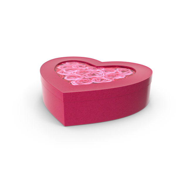 Heart Shaped Gift Box PNG & PSD Images