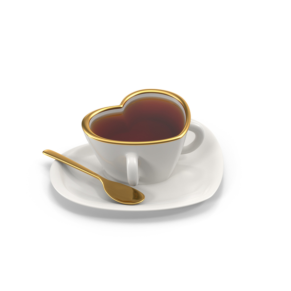 Heart Teacup with Tea PNG & PSD Images