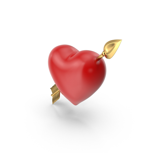 Shape: Heart with Arrow PNG & PSD Images