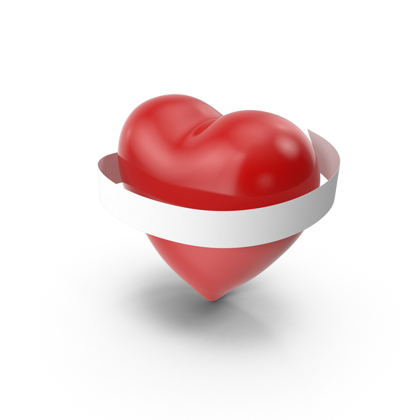 Heart With Banner PNG & PSD Images