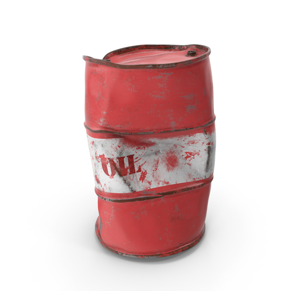 Heavy Damaged Crude Oil Barrel PNG & PSD Images