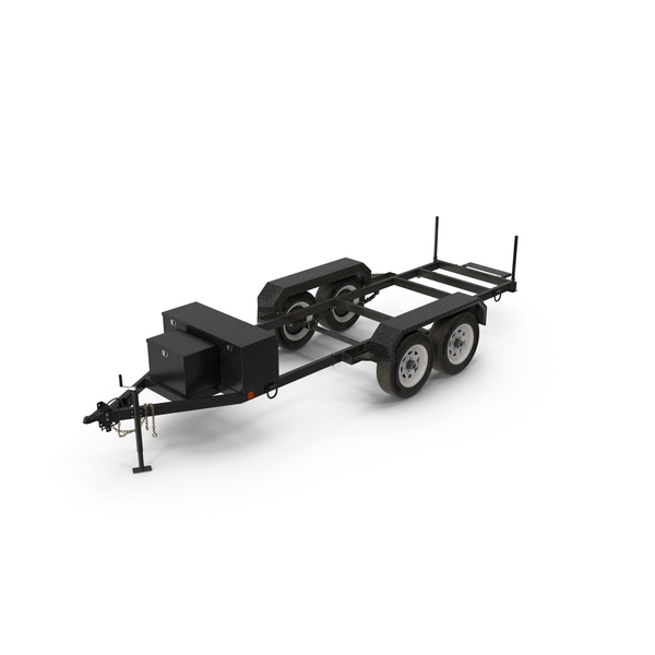 Heavy Duty 4 Wheel Trailer PNG & PSD Images