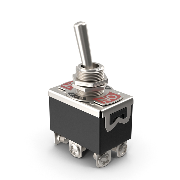 Heavy Duty DPDT Toggle Switch PNG & PSD Images