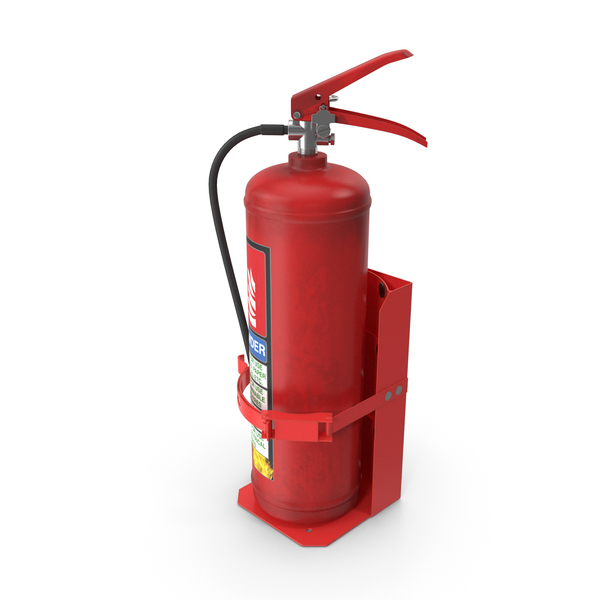 Heavy Duty Marine Bracket with Fire Extinguisher PNG & PSD Images
