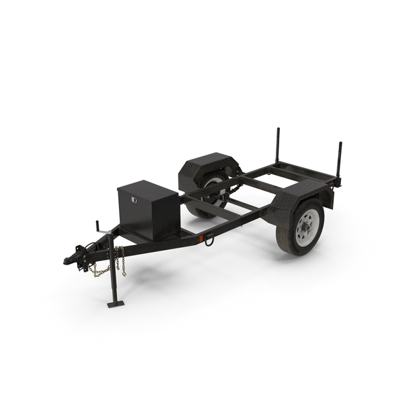 Heavy Duty Two Wheel Trailer PNG & PSD Images