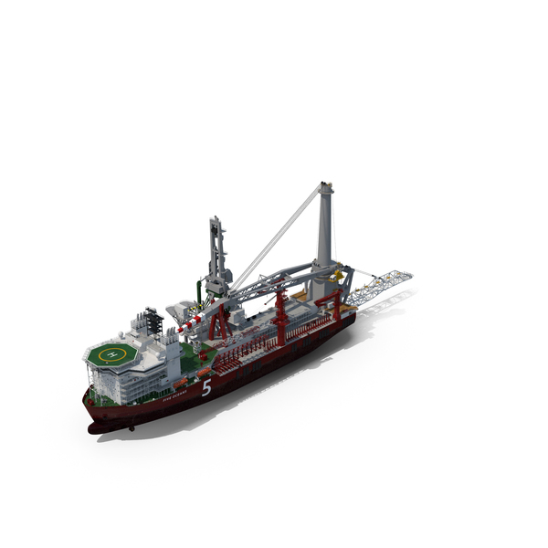Special Craft: Heavy Lift Pipe-lay Multi Purpose Vessel PNG & PSD Images