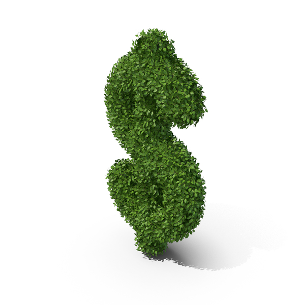 Hedge Shaped Dollar Sign PNG & PSD Images