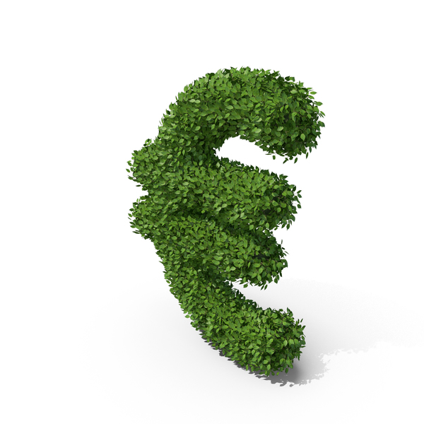 Hedge Shaped Euro Sign PNG & PSD Images