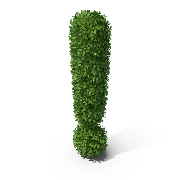 Punctuation: Hedge Shaped Exclamation Mark PNG & PSD Images