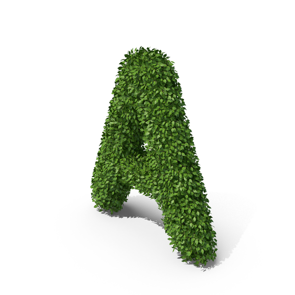 Language: Hedge Shaped Letter A PNG & PSD Images