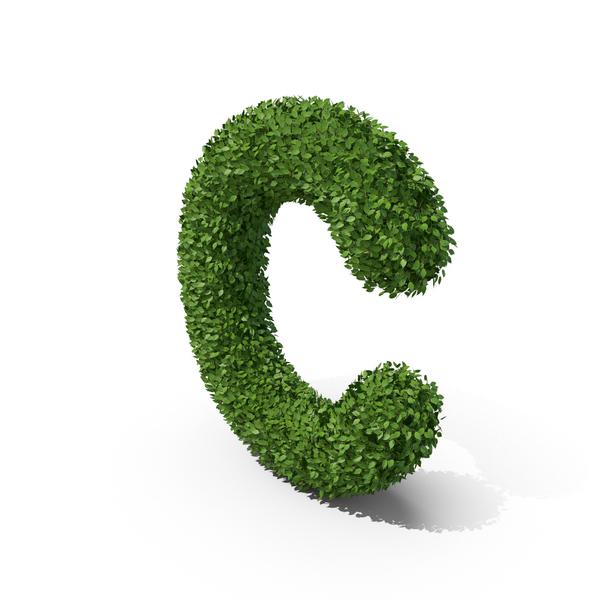 Hedge Shaped Letter C PNG & PSD Images