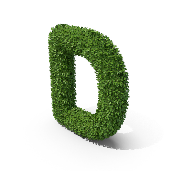 Language: Hedge Shaped Letter D PNG & PSD Images