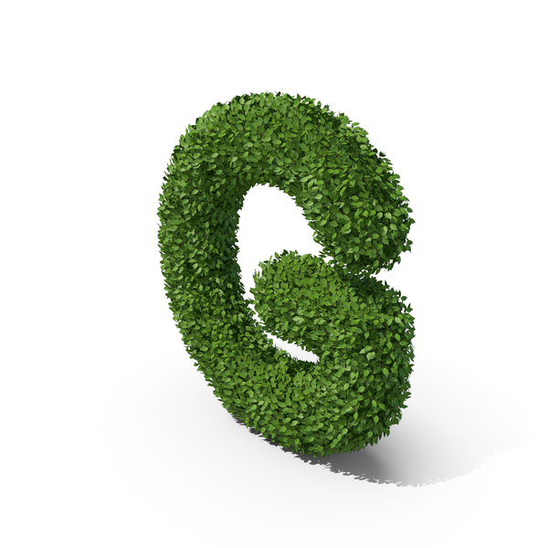 Language: Hedge Shaped Letter G PNG & PSD Images