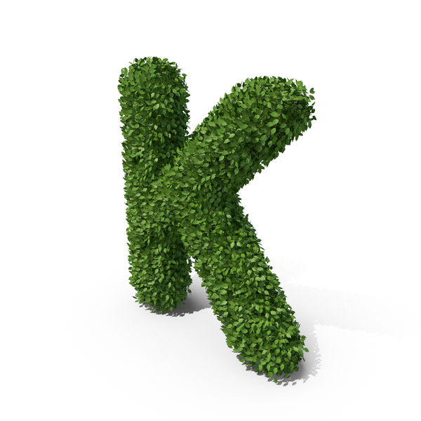 Language: Hedge Shaped Letter K PNG & PSD Images