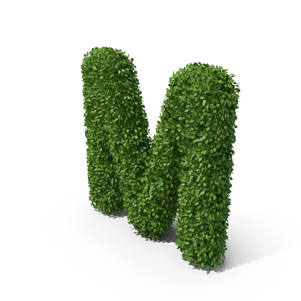 Hedge Shaped Letter M PNG & PSD Images