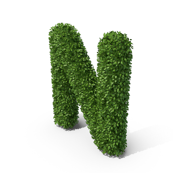 Language: Hedge Shaped Letter N PNG & PSD Images