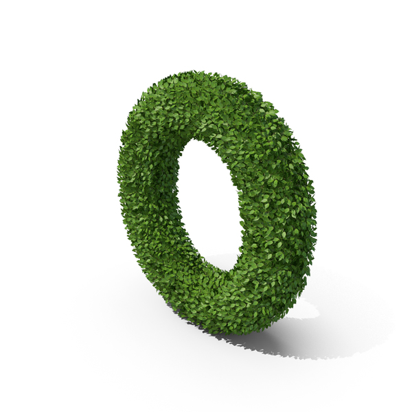 Language: Hedge Shaped Letter O PNG & PSD Images