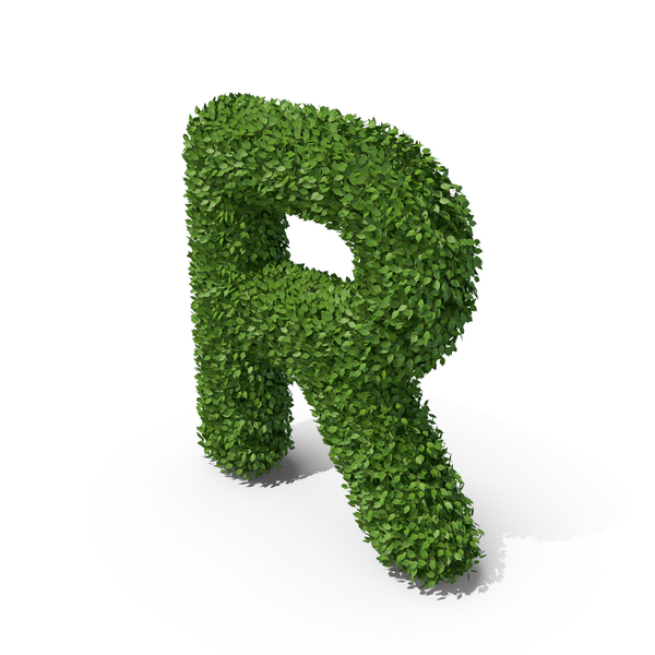 Hedge Shaped Letter R PNG & PSD Images