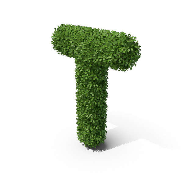 Hedge Shaped Letter T PNG & PSD Images