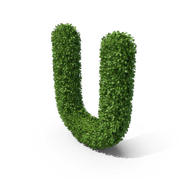 Hedge Shaped Letter U PNG & PSD Images