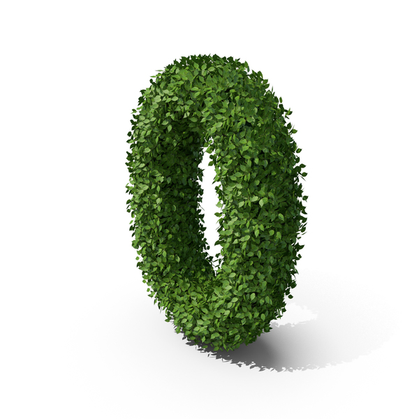 Hedge Shaped Number 0 PNG & PSD Images