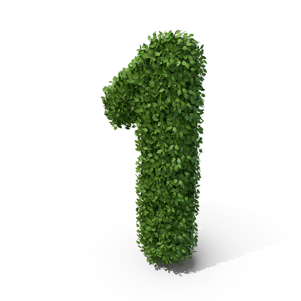 Hedge Shaped Number 1 PNG & PSD Images
