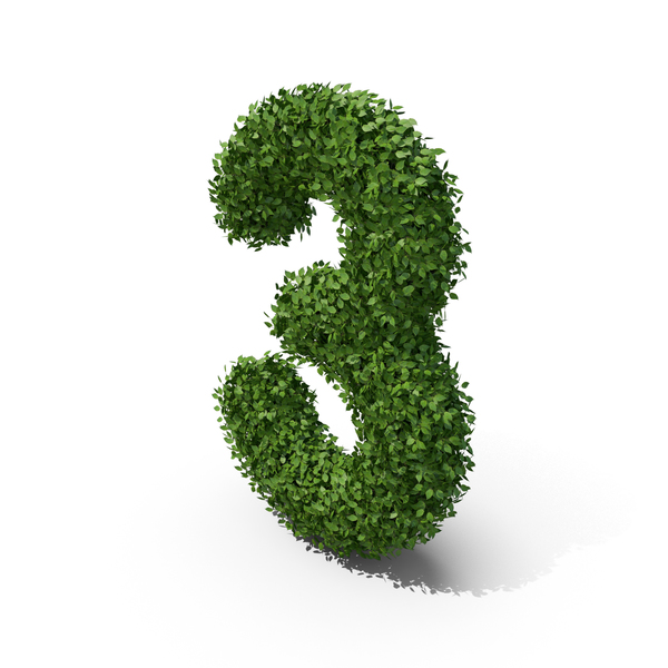 Hedge Shaped Number 3 PNG & PSD Images
