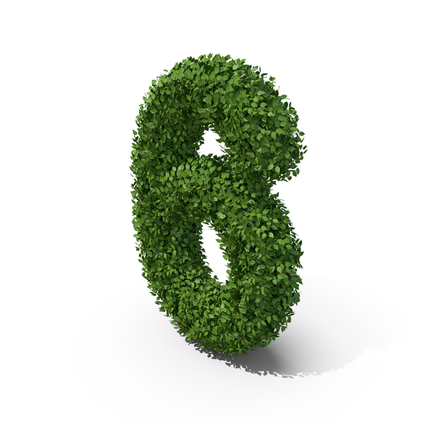 Hedge Shaped Number 6 PNG & PSD Images