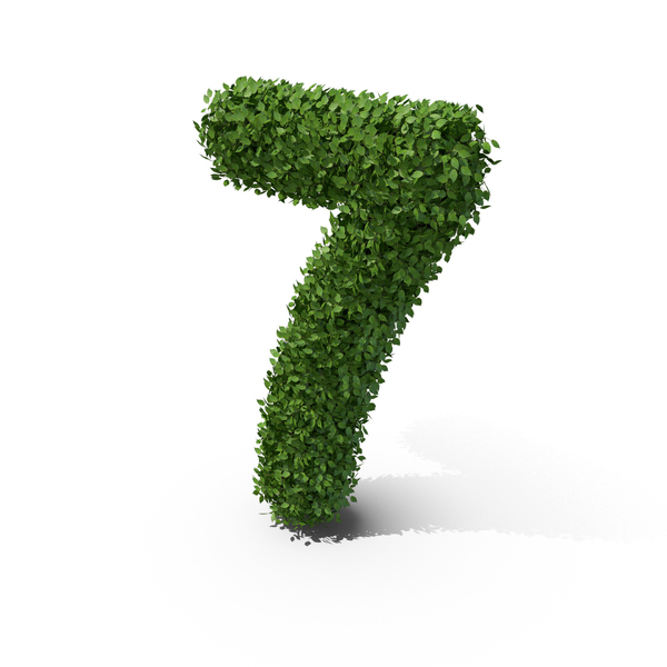 Hedge Shaped Number 7 PNG & PSD Images