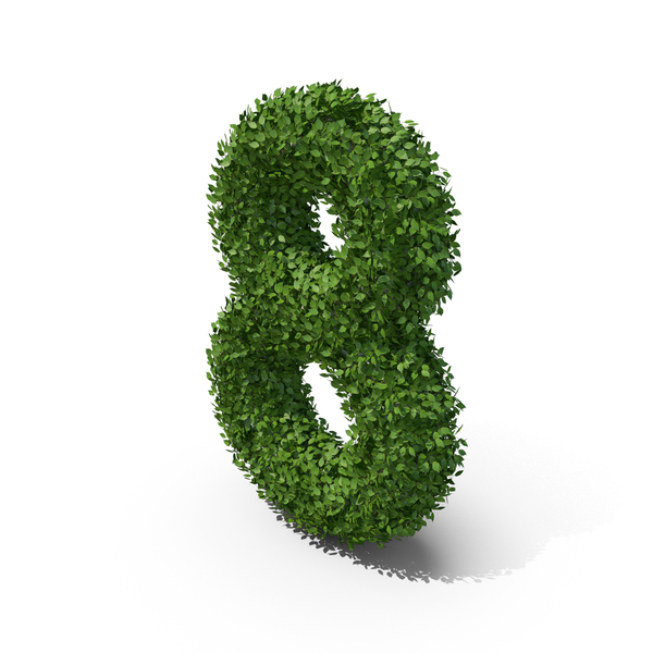 Hedge Shaped Number 8 PNG & PSD Images