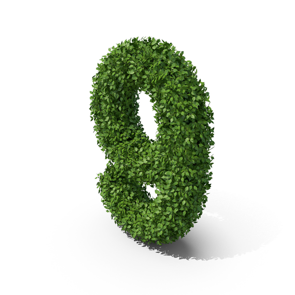 Hedge Shaped Number 9 PNG & PSD Images