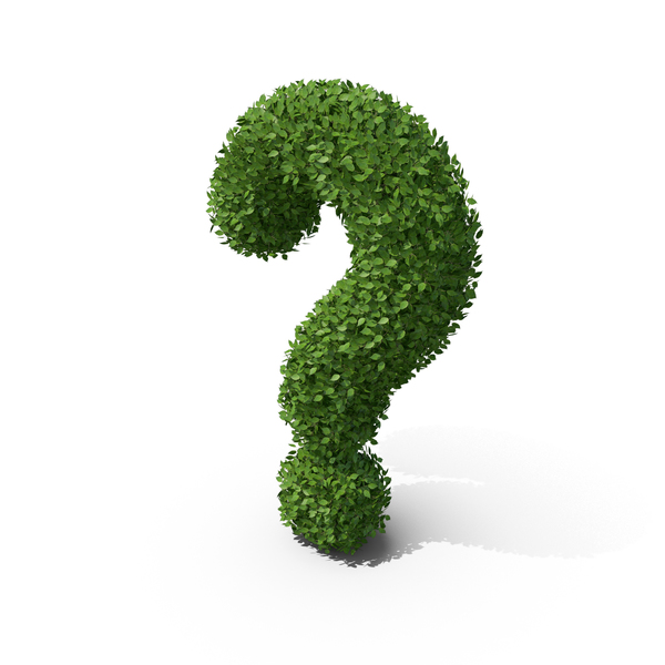 Language: Hedge Shaped Question Mark PNG & PSD Images