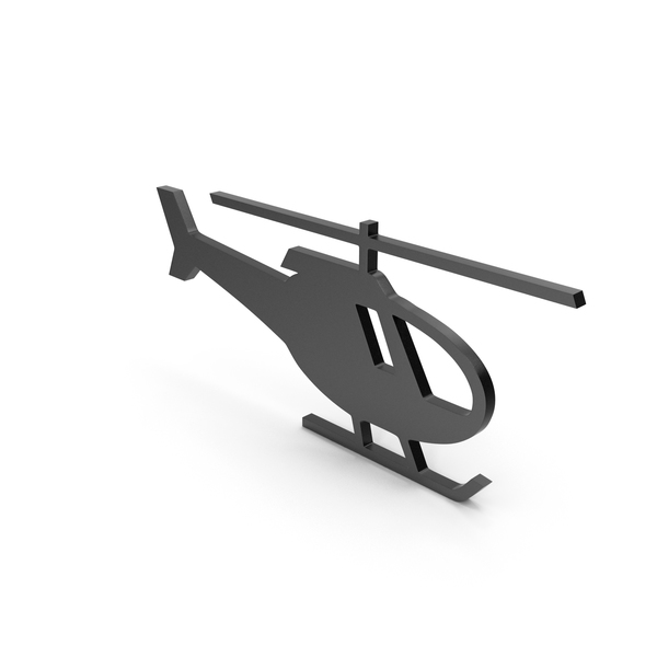 Computer: Helicopter Black Icon PNG & PSD Images
