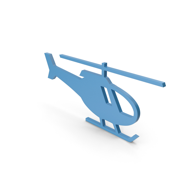 Computer: Helicopter Blue Icon PNG & PSD Images