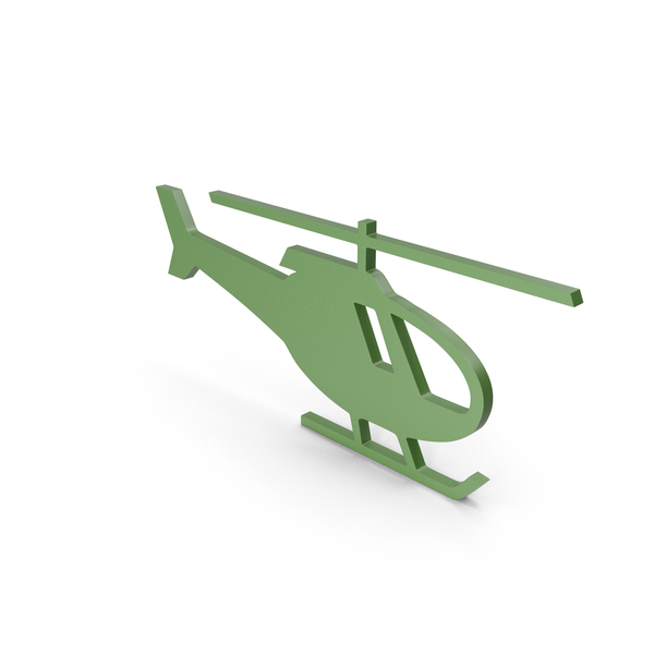 Computer: Helicopter Green Icon PNG & PSD Images
