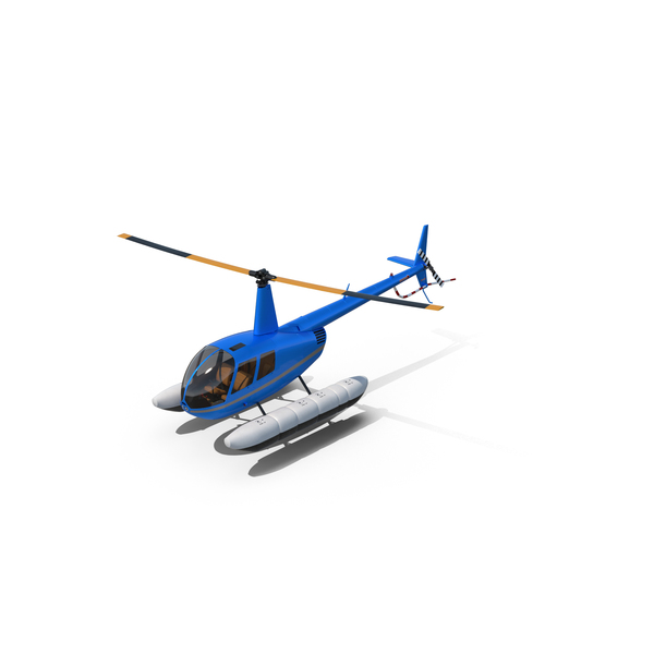 Helicopter Robinson R44 With Floats PNG & PSD Images