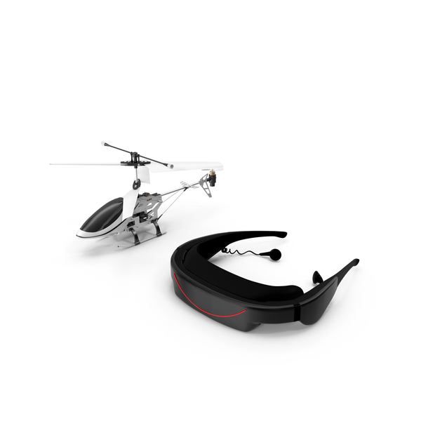Helicopter with VR Headset Object