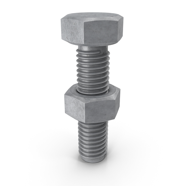 Hex Bolt and Nut PNG & PSD Images