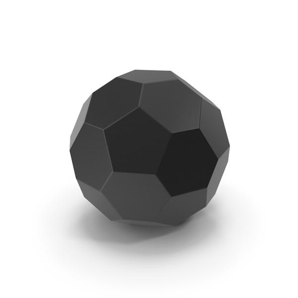 Geometric Shape: Hexagon Ball Black PNG & PSD Images