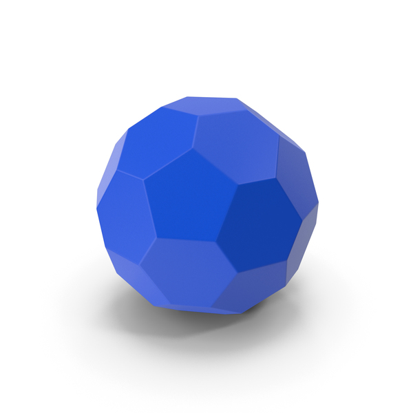 Geometric Shape: Hexagon Ball Blue PNG & PSD Images