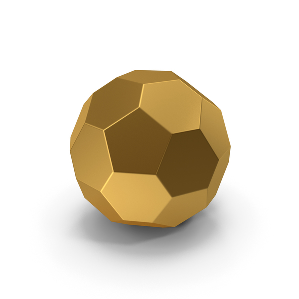 Geometric Shape: Hexagon Ball Gold PNG & PSD Images