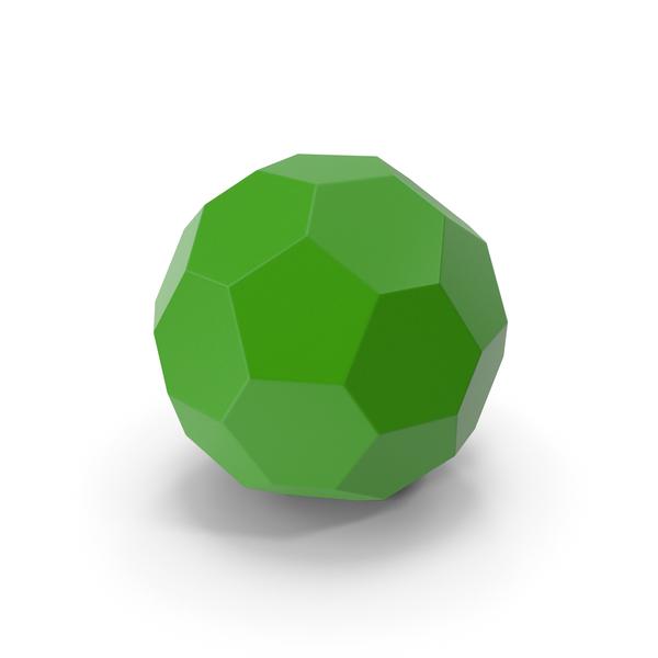 Geometric Shape: Hexagon Ball Green PNG & PSD Images