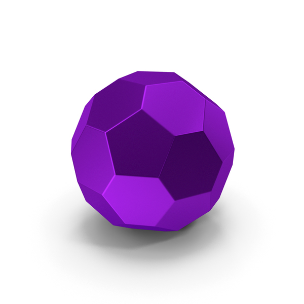 Geometric Shape: Hexagon Ball Purple PNG & PSD Images