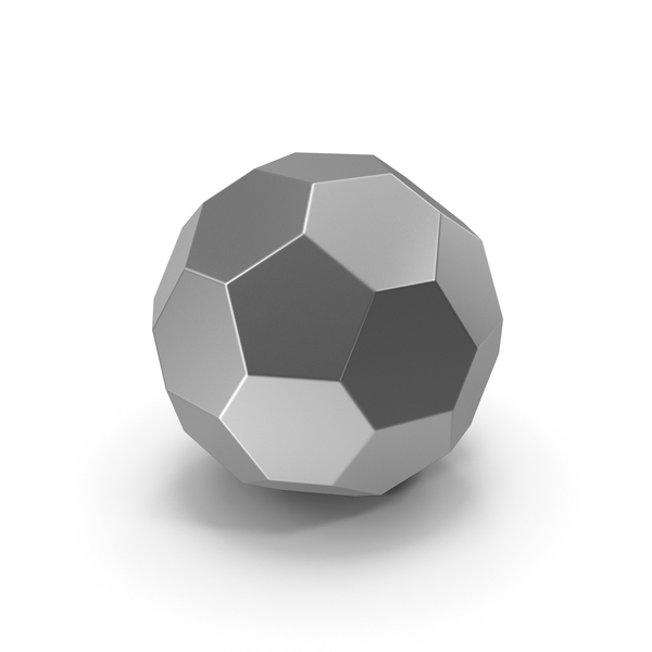 Geometric Shape: Hexagon Ball Silver PNG & PSD Images