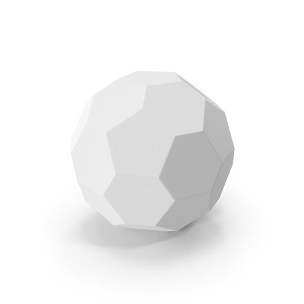 Geometric Shape: Hexagon Ball White PNG & PSD Images