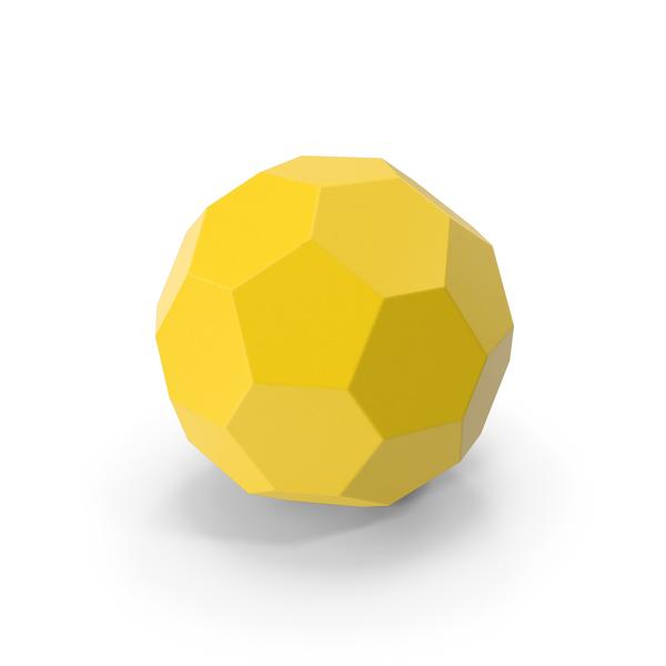 Hexagon Ball Yellow PNG & PSD Images