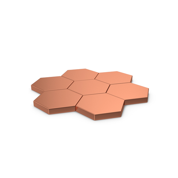 Hexagon Mosaic Bronze PNG & PSD Images