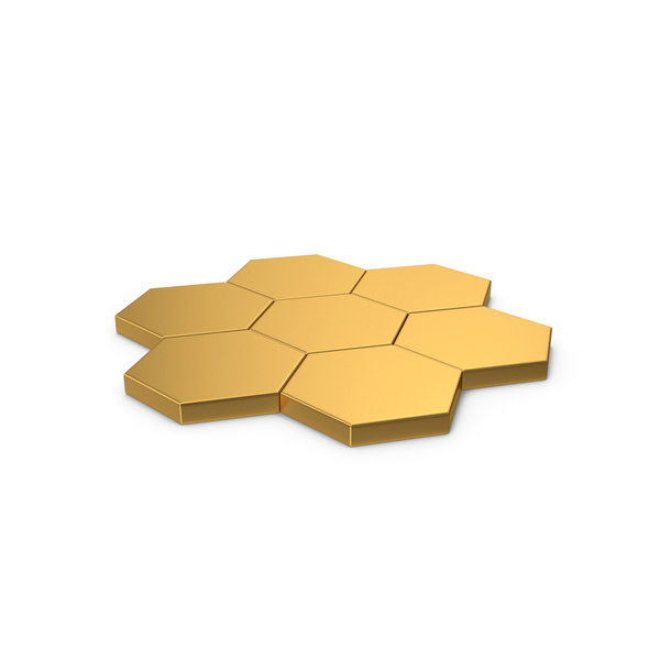 Hexagon Mosaic Gold PNG & PSD Images