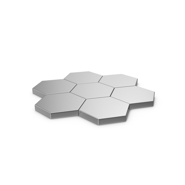 Hexagon Mosaic Silver PNG & PSD Images