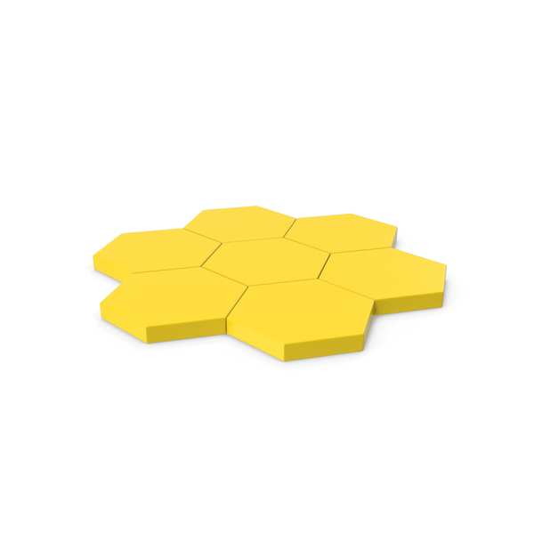 Hexagon Mosaic Yellow PNG & PSD Images